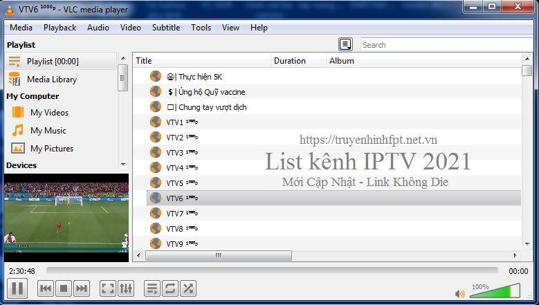 Link IPTV 2021 - List danh sách kênh từ link coca