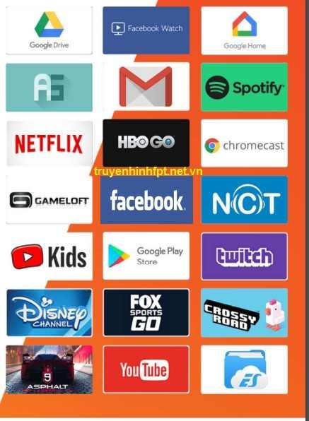 Kho ứng dụng trên Fpt Play Box S400