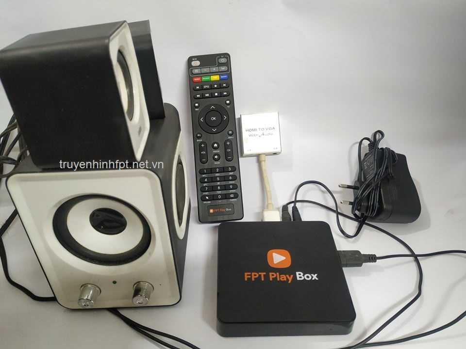 Tổng thể trọn bộ phụ kiện biến màn hình máy tính thanh Smart TV