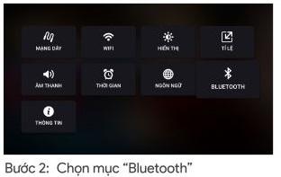 B2: Chọn cài đặt Bluetooth