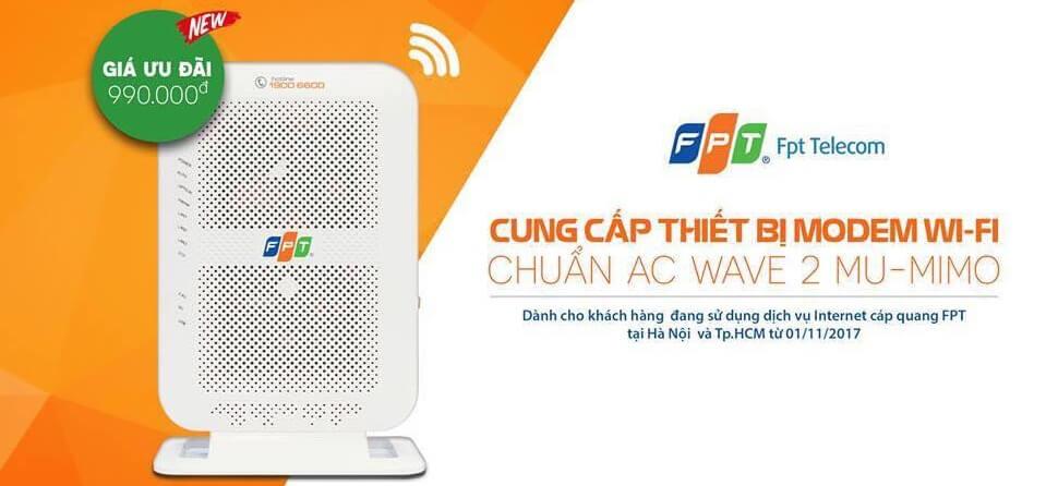 Modem wifi chuẩn AC của FPT