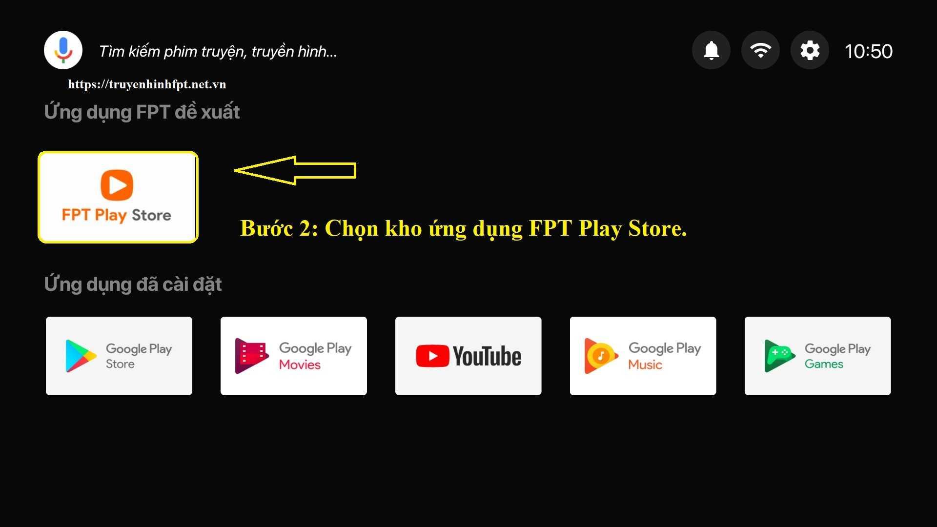 Bước 2: Cài đặt camera trên FPT Play Box