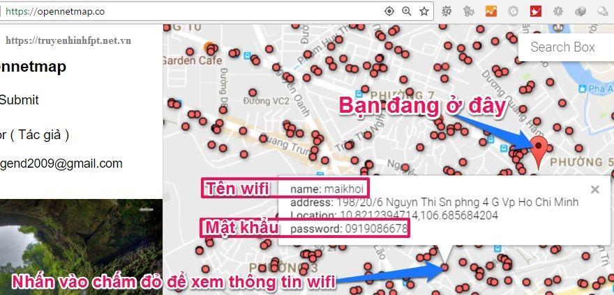 Thông tin mật khẩu wifi miễn phí