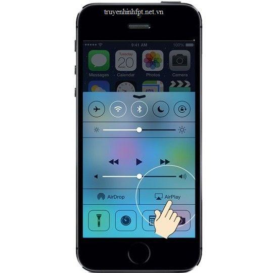 Cách phản chiếu màn hình IPhone lên tivi