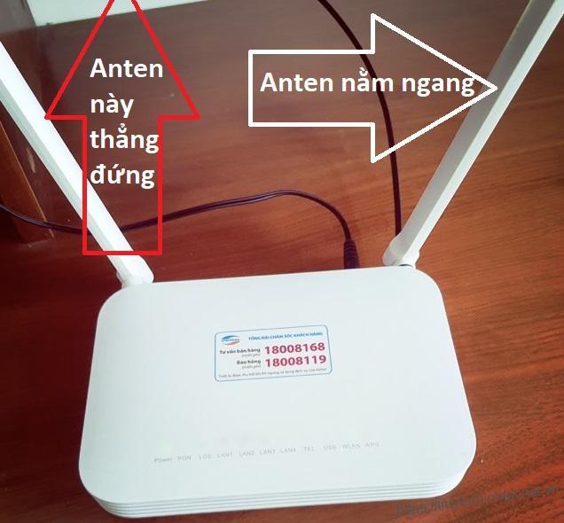 Cách chỉnh anten wifi Viettel